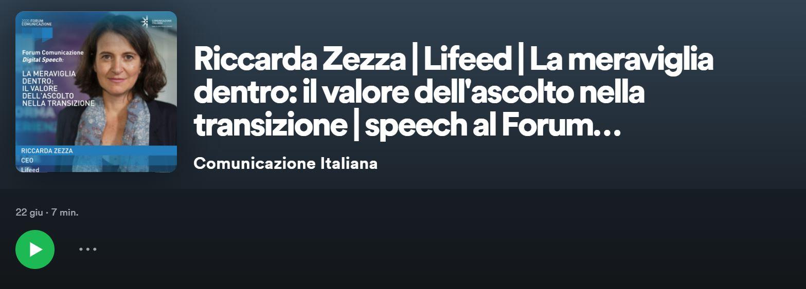 Ascolta il podcast dell'intervento di Riccarda Zezza al Forum della Comunicazione 2020